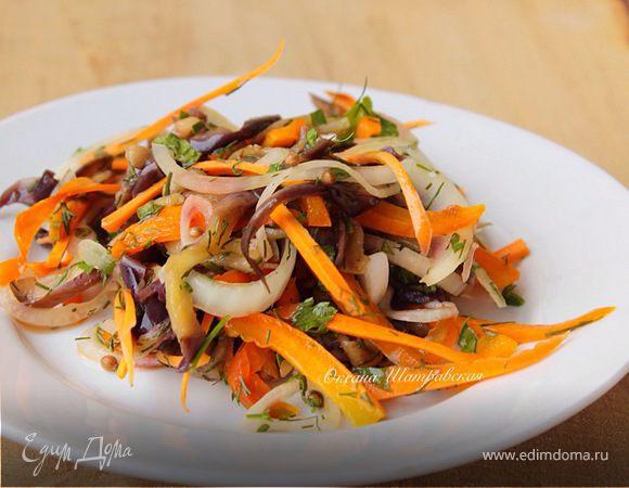 Салат из баклажанов в корейском стиле