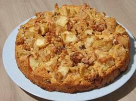 Яблочно-ореховый пирог на сидре