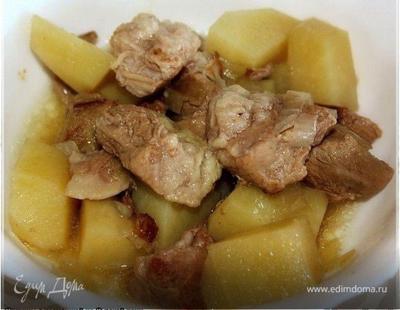 Свинина с картошкой из русской печи