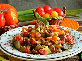 Грибное рагу с овощами