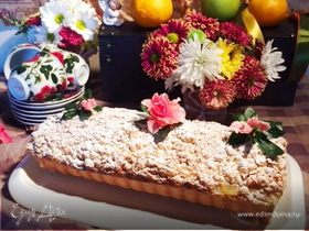 Пирог с фаршированными яблоками