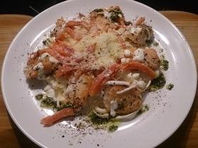 Феттучини с лососем в сливочном соусе
