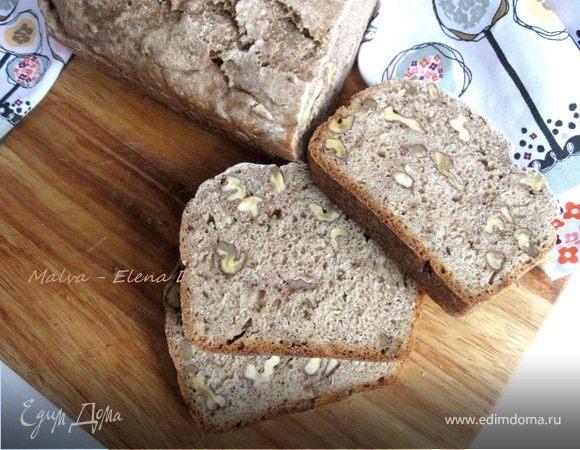 Хлеб из цельнозерновой муки с грецкими орехами