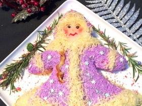 Новогодний салат «Снегурочка»