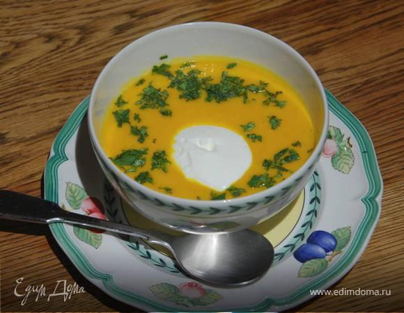 Морковный суп с фенхелем и сельдереем
