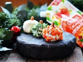Сырная закуска «Новогодние шары»