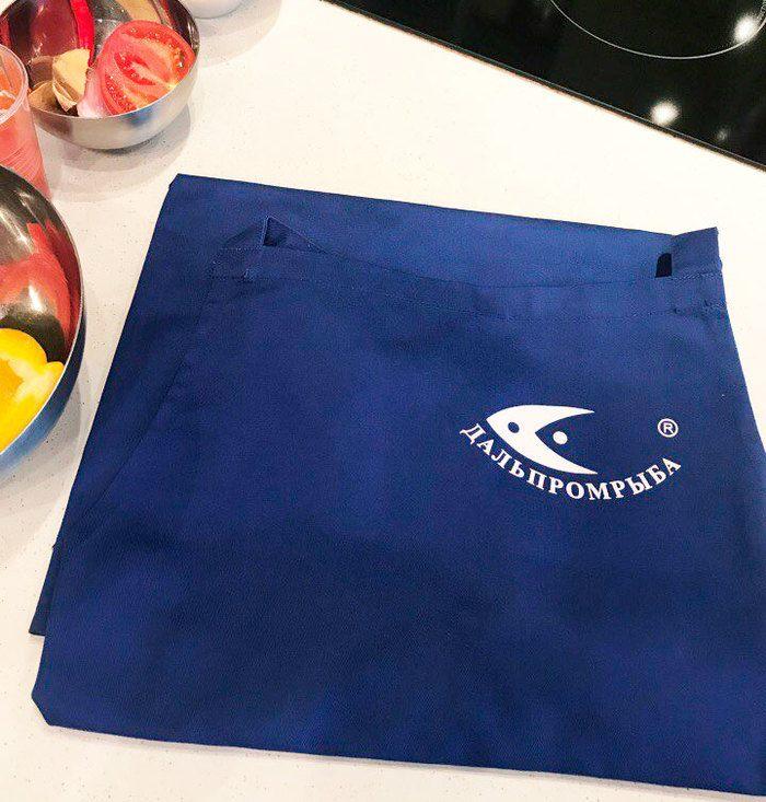 Фирменный фартук с логотипом «Дальпромрыба»