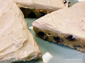 Ароматный сырный пирог с голубикой
