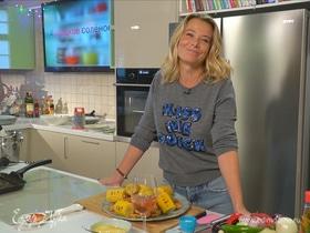 Рецепт креветок гриль с кукурузой и домашним соусом от Юлии Высоцкой | #сладкоесолёное №60