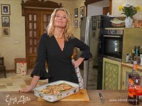 Рецепт полезной запеченной семги с орехами и овощами от Юлии Высоцкой | #сладкоесолёное №63