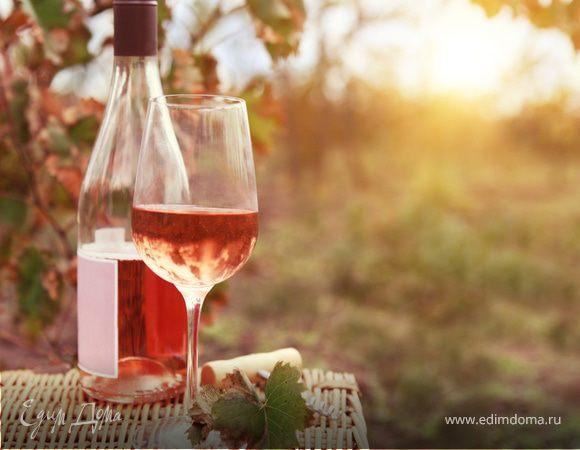 Вино розовое полусухое