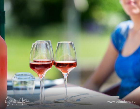 Вино розовое полусладкое