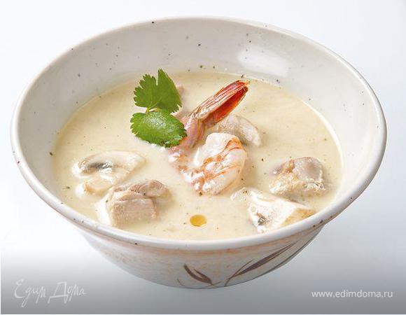 суп том кха с креветками рецепт