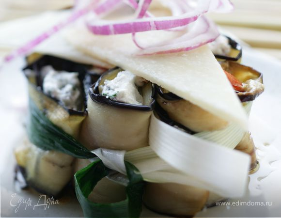 Фаршированные баклажаны с сырной лепешкой