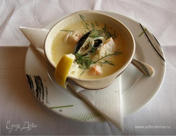 Нежный суп из семги