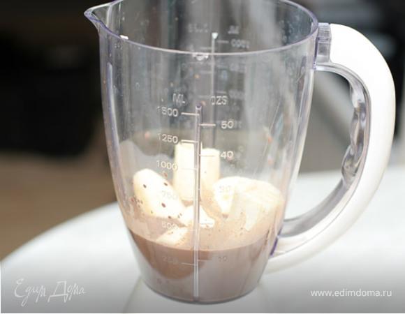 Шоколадно - ягодный милк - шейк