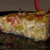 Тарт из порея и овечьего сыра