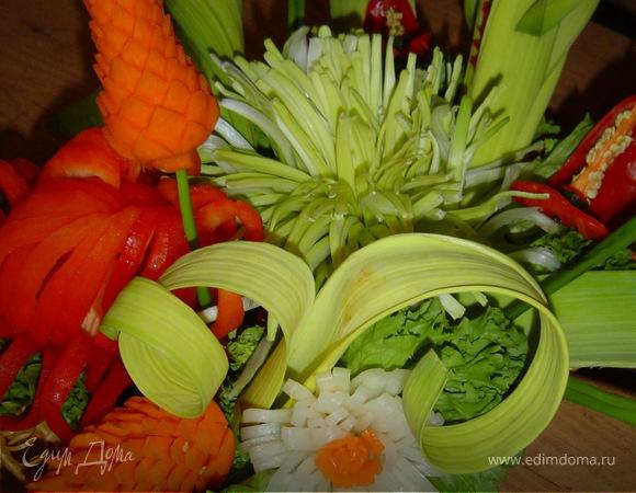 Цветок из лука-порея