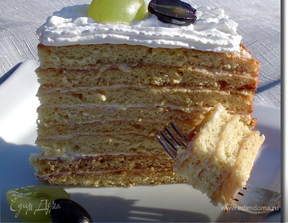 Торт творожно-медовый