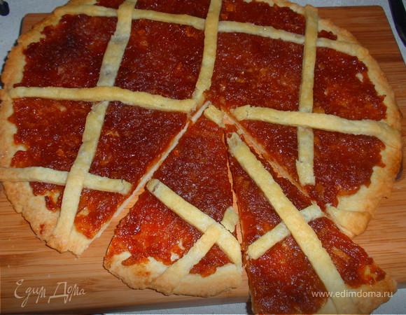 Пирог с яблочным конфитюром