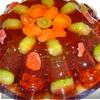 Слоеный желейный тортик с ягодами