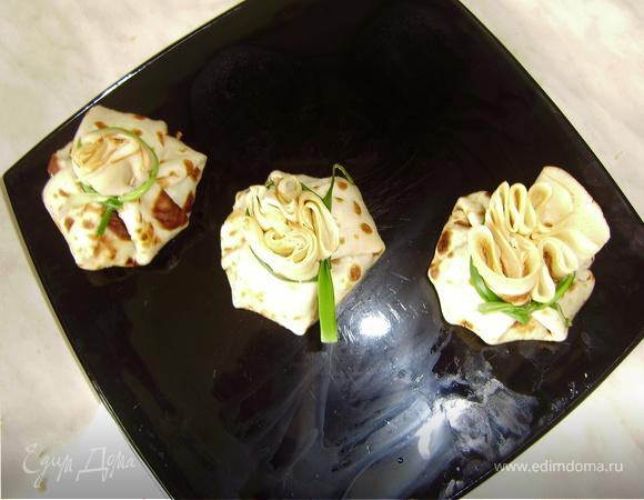 Блинное ассорти на Масленицу (блинный жульен, банан, шоколад и немного Crespelle dolci)