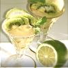 Мятное желе из зеленого чая с киви