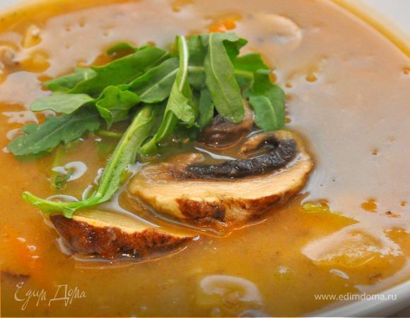 Густой грибной суп по-итальянски. (Постные дни)