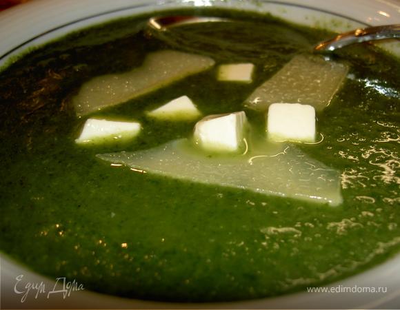 "Суп ""Зеленый шелк"""