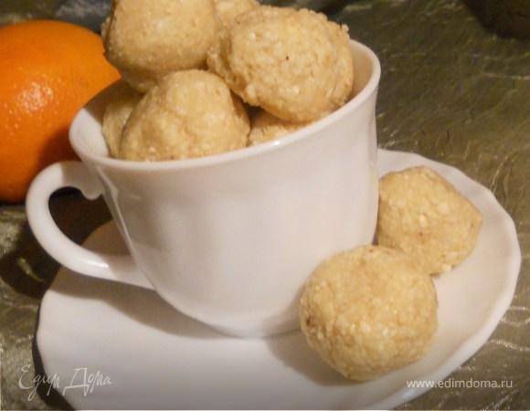 Мягкие конфеты с кешью и апельсином