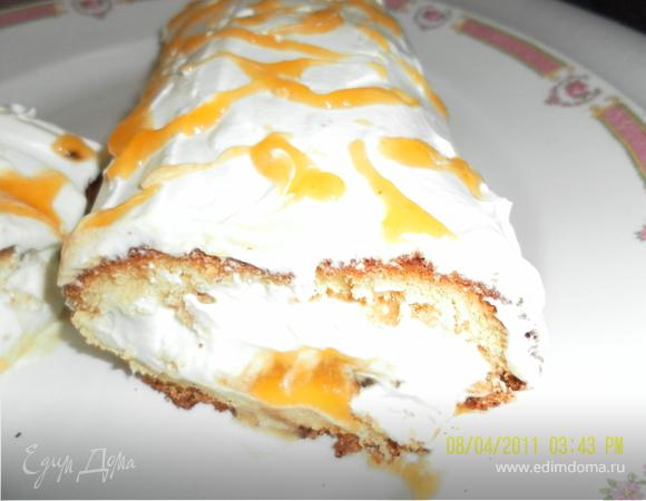 Лимонно-абрикосовый рулет