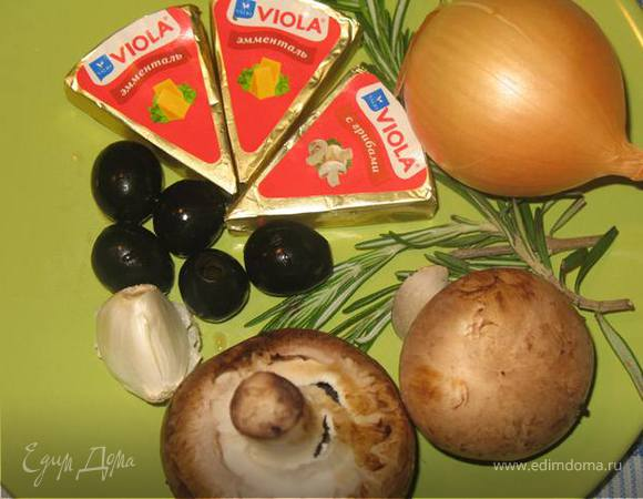 Лумаконе с грибами и сыром