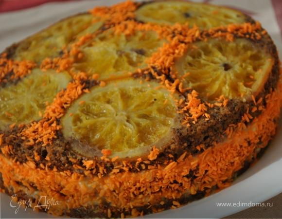 """Торт """"Апельсиново-маковый восторг"""""""