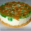 Яркий мини-чизкейк с мандаринами и фруктовым желе