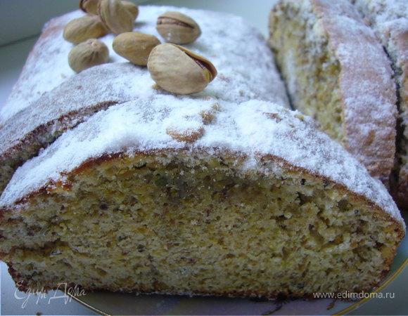 Фисташково-лимонный кекс