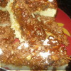 Ореховый пирог с абрикосовой глазурью