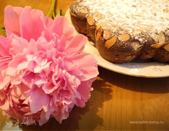 Шоколадный миндальный пирог