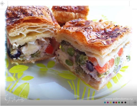 "Пирог с овощами и курицей ""Рина"""