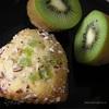 Кексики с киви и ананасом