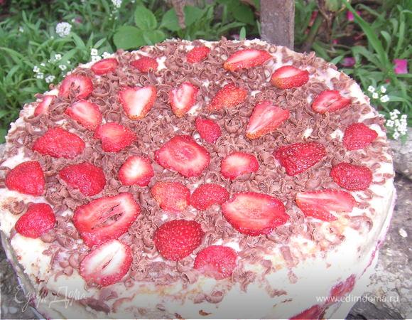 Французский торт Фрезье (Fraisier)