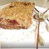 Творожный пирог со штрейзелем и айвой