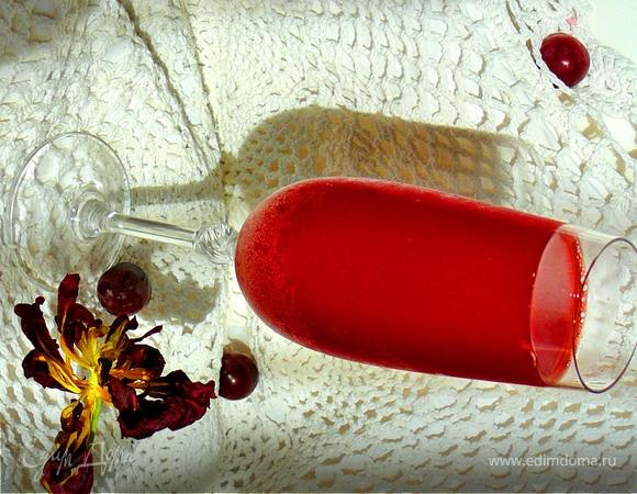 дали попить темно-вишневую жидкость приворот?
