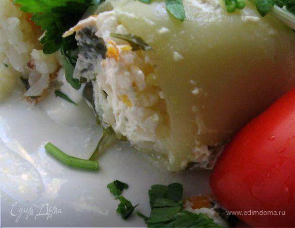 Перцы, фаршированные рисом и кабачками