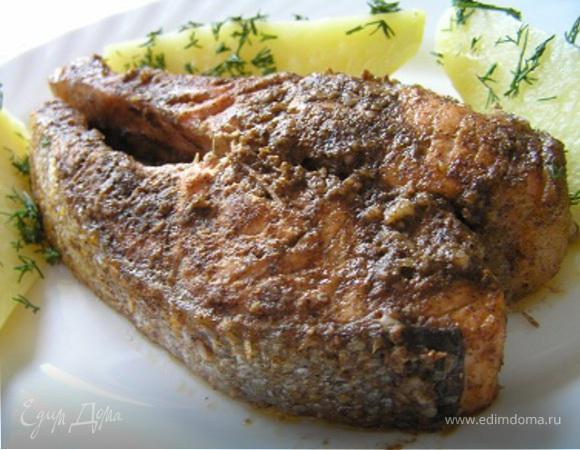 Форель по-индийски с картофелем