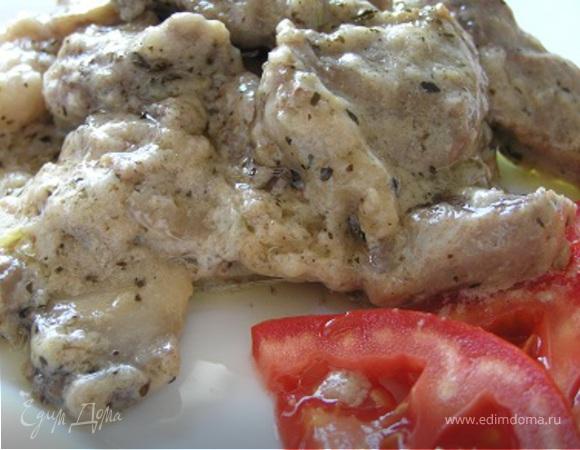 Рецепт мяса с грибами в сметанном соусе