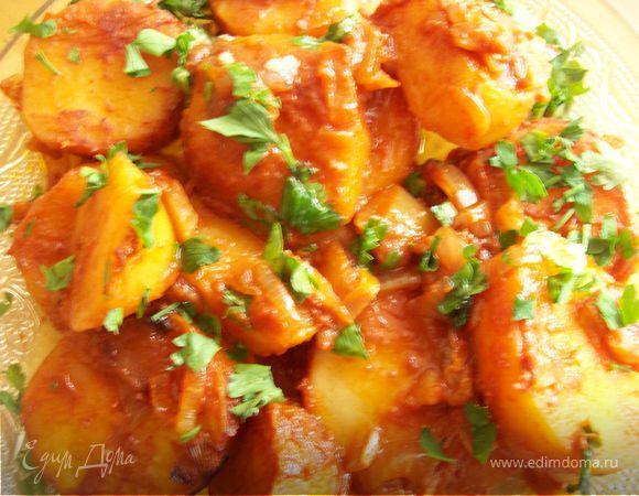 Картофель, тушеный по-Венгерски