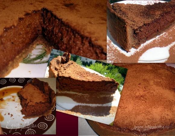 Миндальный тарт с брауни