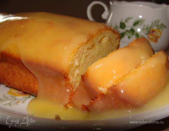 Лимонный кекс с лимонным курдом