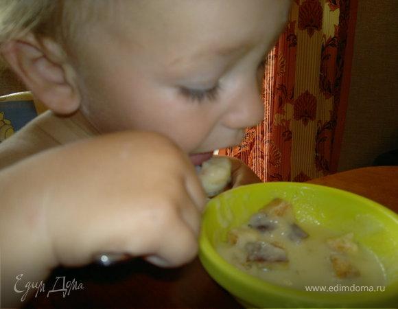 Крем-суп с крутонами
