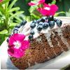 Шоколадный торт с виски и паслёном.